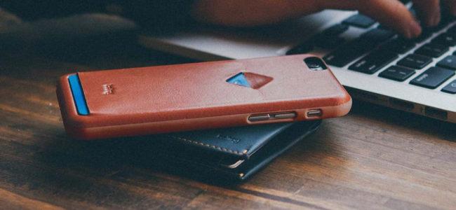 coque en cuir pour iPhone 7