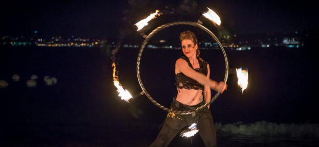 spectacle de danseuses de feu